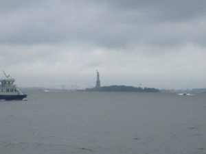 Statue of Liberty on overcast day