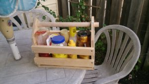My finished condiment basket