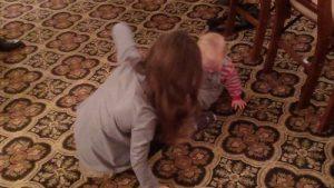toddler exploring the world