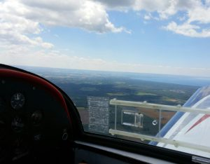 view from the air during sample flying lesson